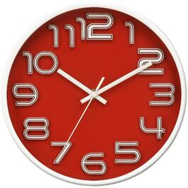 "10"" Raised Numbers Wall Clock, Assorted Colours thumb"