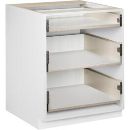 "30"" 3-Drawer White Knockdown Base Cabinet thumb"