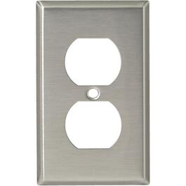 Stainless Steel Duplex Receptacle Plate thumb