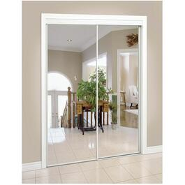 "48"" x 80"" White Top Roll Mirror Sliding Door thumb"