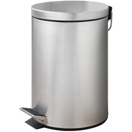 12L Stainless Steel Step-On Garbage Can thumb