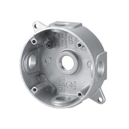 Grey Weatherproof Outdoor Metal Round Junction Box thumb