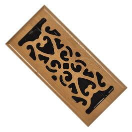 "4"" x 10"" Light Oak Scroll Floor Diffuser thumb"
