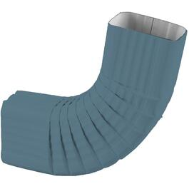 "2-1/2"" Square Mist Medium Blue Aluminum Gutter Elbow thumb"