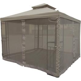 10' x 10' Soft Top Ez Up Gazebo, with Net and LED Lights thumb