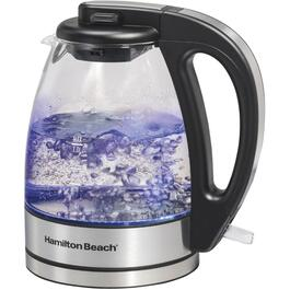 1.0 Litre 1000 Watt Glass/Stainless Steel Cordless Jug Kettle thumb