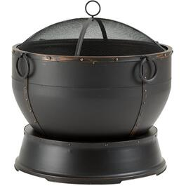 "28.4"" Steel Rubbed Bronze Athena Outdoor Wood Fire Pit thumb"