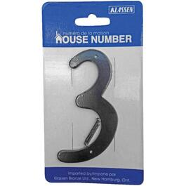 "3.5"" Aluminum Nail-On '3' House Number thumb"