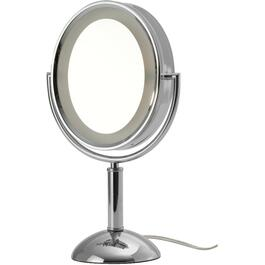 "1x+7x Round 6"" Table Top Lighted Makeup Mirror thumb"
