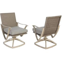 2 Pack Grand Bay Swivel Dining Chairs, with Cushions thumb