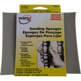 "3 Pack 4.5"" x 5.5"" Medium Flexible Sanding Pads thumb"