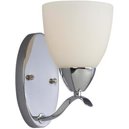 Astro 1 Light Chrome Wall Light Fixture with White Glass thumb