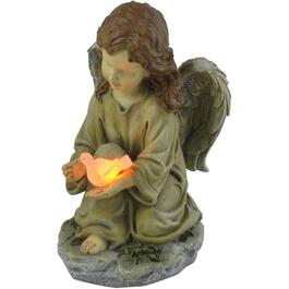 Solar Angel with Dove Garden Statue thumb