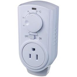 Plug-in Portable Thermostat, for Heaters and Air Conditioners thumb
