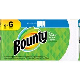 4 Rolls 83 Sheet 2 Ply Regular Select-A-Size Paper Towels thumb