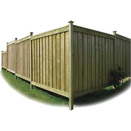 4' Pressure Treated 1x6 Top & Bottom Fence Package thumb