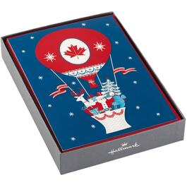 16 Pack French Language Canadian Christmas Cards, Assorted Designs thumb
