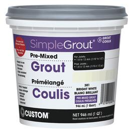 946mL Bright White Pre-Mixed Grout thumb