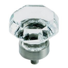 "1-1/4"" Traditional Classic Crystal/Satin Nickel Cabinet Knob thumb"