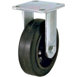 "8"" Rubber Mold On Wheel Rigid Plate Caster thumb"