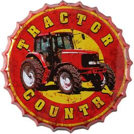"14"" Tractor Country Bottle Cap Wall Plaque thumb"