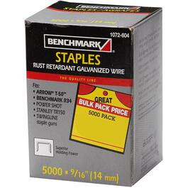 "5000 Pack 9/16"" Staples, for T50 Stapler thumb"