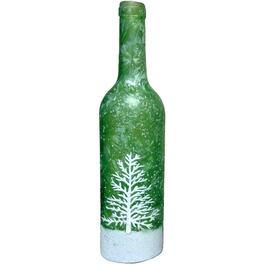 "11.4"" Christmas Painted Bottle, with Battery Operated LED Lights, Assorted Colours thumb"