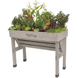 Grey Washed Wall Hugger Small Raised Garden Planter thumb