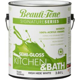 3.64L High Hide White Base Semi Gloss Kitchen & Bath Interior Latex Paint thumb
