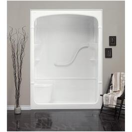 "60"" 3 Piece Right Hand White Acrylic Shower Cabinet thumb"