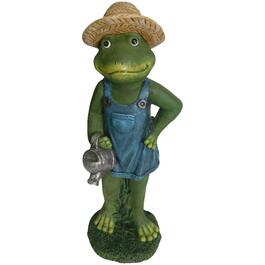 Frog With Watering Can Garden Statue thumb