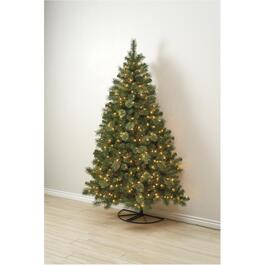 7' Concord Half Wall Christmas Tree, with 350 Clear Lights thumb