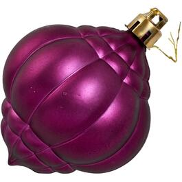 "5"" Plastic Dark Raspberry Onion Ornament thumb"