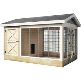8' x 12' Decorative Plywood Dog Kennel Package thumb