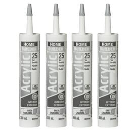 4 Pack 300mL Grey 25 Year All Purpose Acrylic Caulking thumb