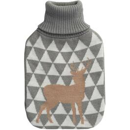 Hot Water Bottle with Knitted Cover, Assorted Designs thumb
