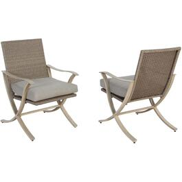 2 Pack Grand Bay Wicker Dining Chairs, with Cushions thumb