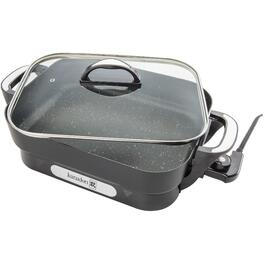 "12 x 15"" Rectangular Non Stick Skillet, with Glass Lid thumb"