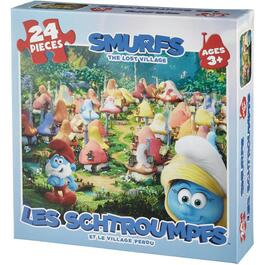 24 Piece Smurfs Kid Puzzle, Assorted Puzzles thumb
