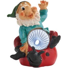 "4"" Solar Polyresin Gnome Garden Statue, Assorted Designs thumb"