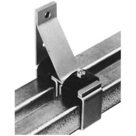 2 Pack Double Barn Door Lock Joint Clips, with Bolt thumb