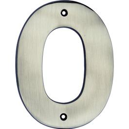 "5"" Antique Nickel '0' House Number thumb"
