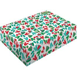 "18"" x 12"" x 5"" Christmas Blanket Gift Box, Assorted Designs thumb"