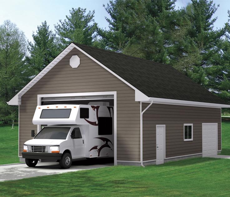 22 X24 Loft Garage Package With, Garage Loft Plans Home Hardware