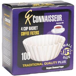 100 Pack White Paper Basket Coffee Maker Filters, for 4-6 Cup Coffee Makers thumb