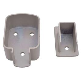 Taupe Top and Bottom Aluminum Post Bracket thumb