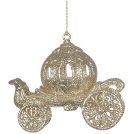 "4.5"" Glitter Coach Ornament, Assorted Colours thumb"