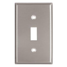 Stainless Steel 1 Toggle Switch Plate thumb