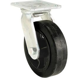 "5"" Rubber Mold On Wheel Rigid Plate Caster thumb"