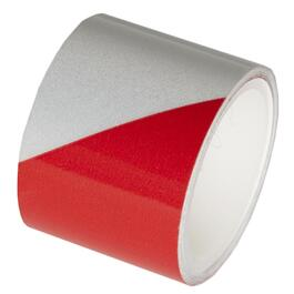 "1-1/2"" x 40"" Red and Silver Reflective Tape thumb"